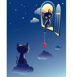 Cats dream vector