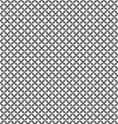 Chain armor black circle elements seamless pattern vector image