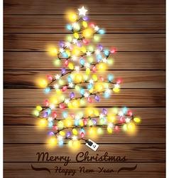 christmas tree made of lights vector image