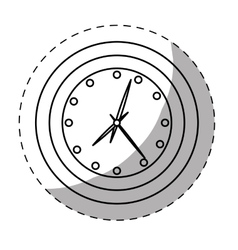 Clock icon image sticker vector