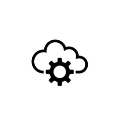cloud storage settings flat icon vector image