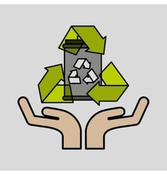 Concept recycle icon design vector