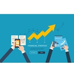 Concepts for business analysis teamwork vector image