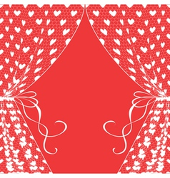 curtains with hearts vector image