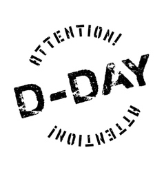D-day rubber stamp vector