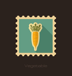 Daikon flat stamp vegetable root vector