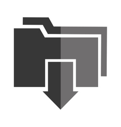 Downloaf from internet isolated icon vector image