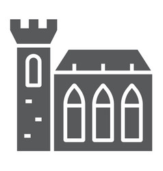 Dublin castle glyph icon st patrick s day and vector