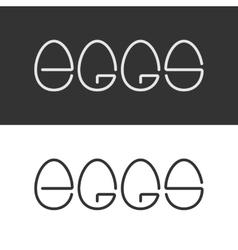 Egg Shape Text Logo Minimalism Style Logotype vector