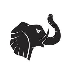 Elephant strong head mascot template isolated vector