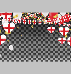 England balloons with countries flags of national vector