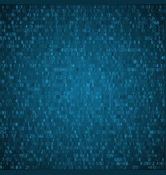 Exchange trades blue background binary code vector
