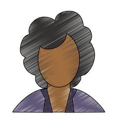 executive woman faceless avatar vector image
