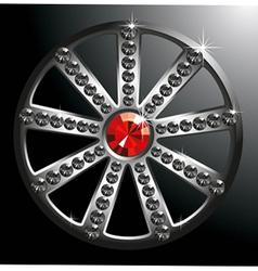 Expensive silver diamond wheel p2 vector