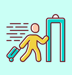 express entry yellow color icon passenger passing vector image