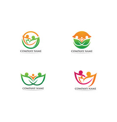 Family care logo and symbol vector