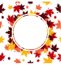 frame leaves background vector image