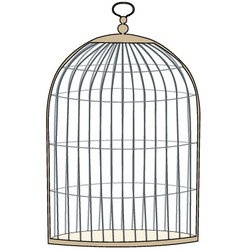Gold cage vector