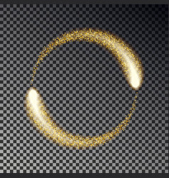 gold sparkle circle glittering star dust l vector image