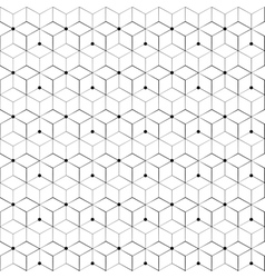 Grid seamless pattern Geometric cube Star effect vector image vector image