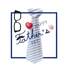 Happy fathers day concept design of necktie and vector