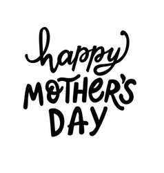 Happy mothers day hand written lettering vector