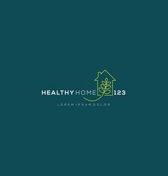 Healthy house modern logo design design for plant vector