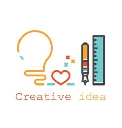 idea logo image vector image