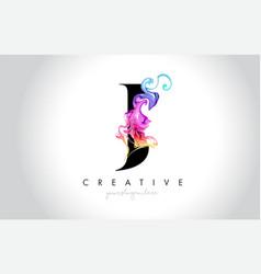 J vibrant creative leter logo design vector