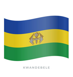 kwandebele waving flag icon vector image