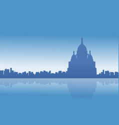 landscape of france city skyline silhouettes vector image