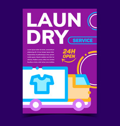 laundry service creative advertise poster vector image
