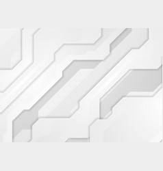 light grey abstract technology geometric vector image