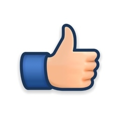 Like icon emoji thumb up symbol vector image