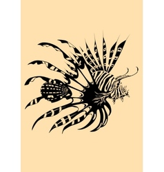 Lion fish vector image
