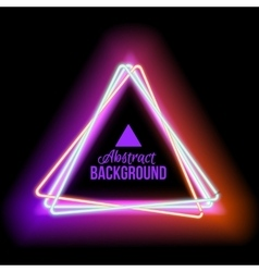 Lowing electric triangle neon lamp vector