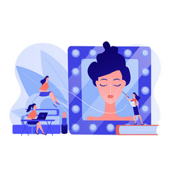 Makeup courses concept vector