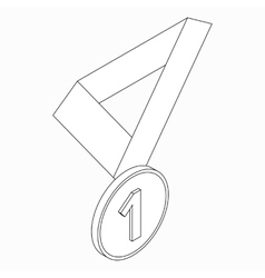 Medal icon isometric 3d style vector image