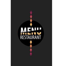 Menu cafe restaurant template placemat Food board vector
