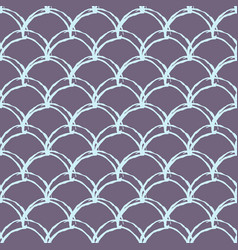 mermaid tail seamless pattern vector image