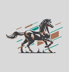 Muscular steed horse vector