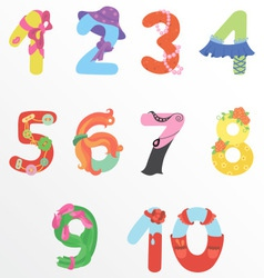 Numbers like woman symbols vector image