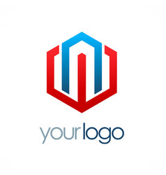 polygon business logo vector image