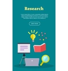 Research Web Banner Website template vector