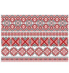 Retro ethnic ornaments and traceries vector