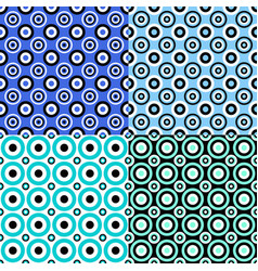 simple seamless circle pattern background set vector image