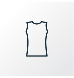 sleeveless icon line symbol premium quality vector image