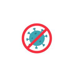 stop virusbacteria icon health concept vector image