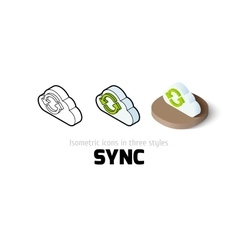 Sync icon in different style vector image
