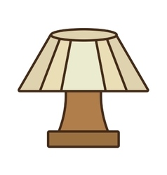 Table lamp house appliance decorative vector